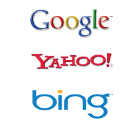 googel, yahoo, bing